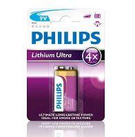 Baterie Philips 6FR61LB1A/10, 9V, Lithium Ultra, (Blistr 1ks)