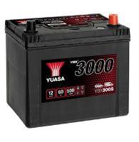 Autobaterie Yuasa YBX3000, 60Ah, 12V, 500A (YBX3005) - Japan Pravá