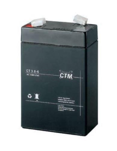 Akumulátor (baterie) CTM/CT 6-3 (3Ah - 6V - Faston 187)