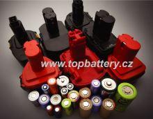 Repase baterií do aku nářadí 2,4V - 36V Ni-Cd Sanyo  cena od