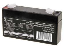 Olověný bezúdržbový akumulátor SLA 6V, 1,3Ah, F1, úzký