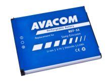 Baterie AVACOM GSSE-W900-S950A, 950mAh, Sony Ericsson BST-33