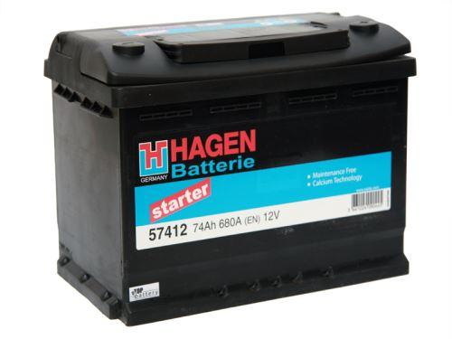Autobaterie Hagen 74Ah, 12V, 680A