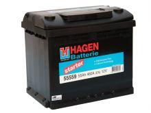 Autobaterie Hagen 55Ah, 12V, 460A