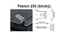 Akumulátor (baterie) CTM/CT 12-7L (7Ah - 12V - Faston 250)