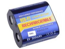 Baterie nabíjecí CRP2P, Lithium/Li-Fe, 6V, 500mAh, 3Wh (Blistr 1ks)