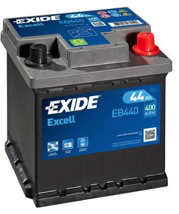 Autobaterie EXIDE Excell 12V, 44Ah 400A, EB440