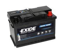 Trakční baterie EXIDE DUAL AGM, 12V, 70Ah, 760A, EP600