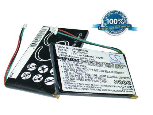 Baterie náhradní pro navigace Garmin Nüvi 760T, 1250mAh, Li-Pol, (Blistr 1ks)