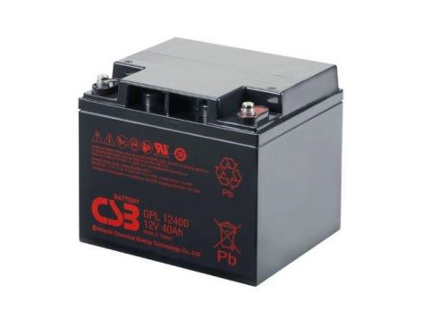 Akumulátor (baterie) CSB GPL12400, 12V, 40Ah, šroubová spojka  M5,M6