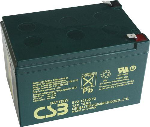 Akumulátor (baterie) CSB EVX12120 F2, 12V, 12Ah, Faston 250, široký