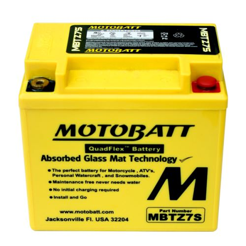 Motobaterie Motobatt MBTZ7S 12V, 6,5Ah, 100A (YTX5L-BS, YTZ6S, YTZ7S)