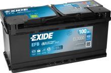 Autobaterie EXIDE Start-Stop EFB, 12V, 100Ah, 850A, EL1000