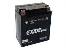 Motobaterie EXIDE BIKE Factory Sealed 9Ah, 12V, 190A, AGM12-9 (YB9-B)