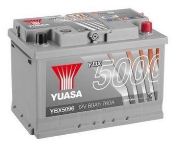 Autobaterie Yuasa Silver High Performance 80Ah, 12V, 760A (YBX5096)