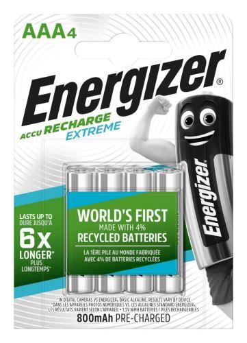Baterie Energizer Extreme, HR6, AAA, 800mAh, (Blistr 4ks) nabíjecí