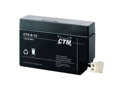 Akumulátor (baterie) CTM/CT 12-0,8 (0,8Ah - 12V - konektor)