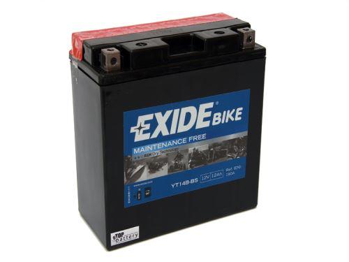 Motobaterie EXIDE BIKE Maintenance Free 12Ah, 12V, 135A, YT14B-BS