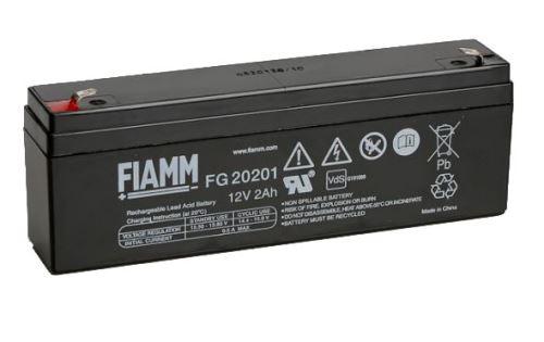 Olověný akumulátor Fiamm FG20201, 2Ah, 12V, (faston 187)
