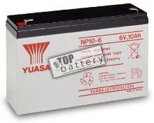 Záložní akumulátor (baterie) Yuasa NP 10-6 (10Ah, 6V)