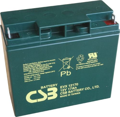 Akumulátor (baterie) CSB EVX12170, 12V, 17Ah, šroubová spojka, M5