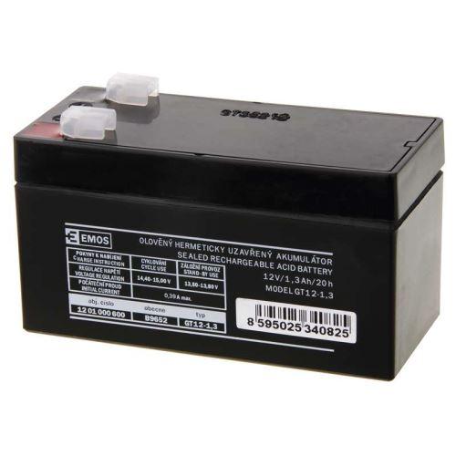 Olověný bezúdržbový akumulátor SLA Emos B9652 12V / 1,3Ah, F1, úzký, 1201000600