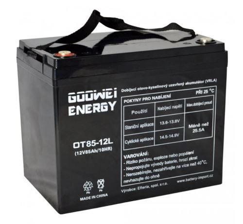 Trakční (gelová) baterie Goowei OTL85-12, 85Ah, 12V ( VRLA )