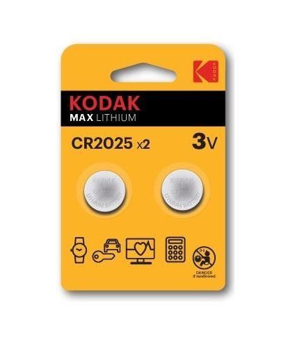 Baterie Kodak Max CR2025, Lithium, 3V, (Blistr 2ks)
