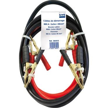 Startovací kabely PROFI GYS FRANCE 500A, délka 3m