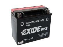 Motobaterie EXIDE BIKE Maintenance Free 13Ah, 12V, 230A, YTX15L-BS