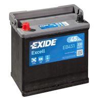 Autobaterie EXIDE Excell 12V, 45Ah, 330A, EB451 - Levá