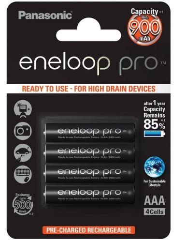 Baterie Panasonic Eneloop Pro BK-4HCDE/4BE, AAA, 930mAh, (blistr 4ks)