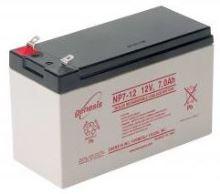 Záložní akumulátor (baterie) Genesis NP 7-12, 7Ah, 12V, Faston 187, F1, úzký