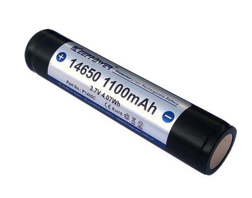 Baterie Keeppower 14650, 1100mAh, 3,7V, Li-ion, nabíjecí