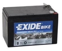 Motobaterie EXIDE BIKE Factory Sealed 12Ah, 12V, 150A, AGM12-12F