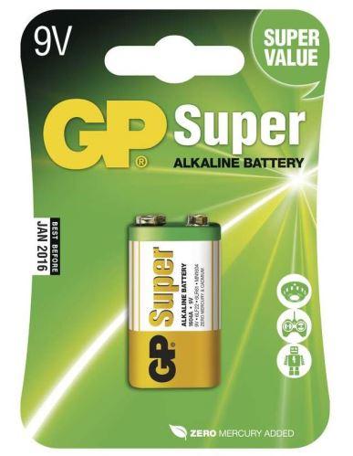 Baterie GP Super Alkaline 1604A , 9V, 1013501000 (Blister 1ks)