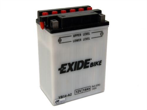 Motobaterie EXIDE BIKE Conventional 14Ah, 12V, 200A, YB14-A2