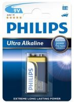 Baterie Philips 6LR61, 9V, Ultra Alkaline, (Blistr 1ks)