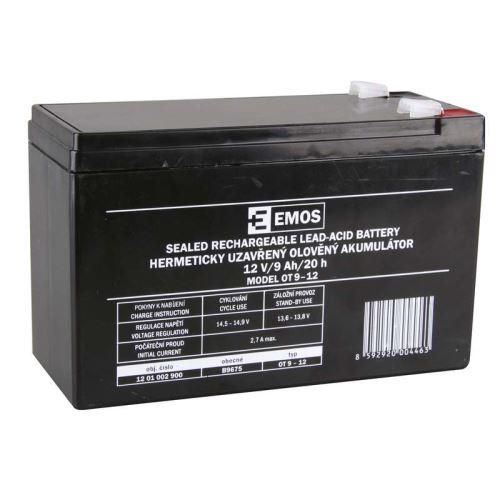 Olověný bezúdržbový akumulátor SLA 12V, 9Ah, F2, široký
