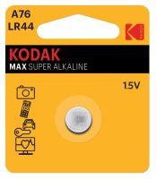 Baterie Kodak Alkaline LR44, A74, AG13, 357, 1,5V, (Blistr 1ks)