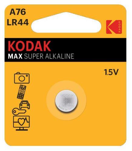 Baterie Kodak Alkaline LR44, AG13, 357, 1,5V, (Blistr 1ks)