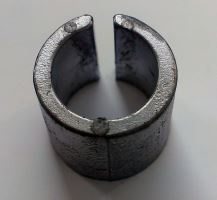 Adaptér (kryt) z uzkého pólu na klasický DIN pól plusový, 1ks