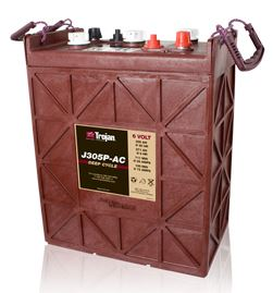 Trakční baterie Trojan J 305 P (3 / 9 GiS 256), 330Ah, 6V - průmyslová profi