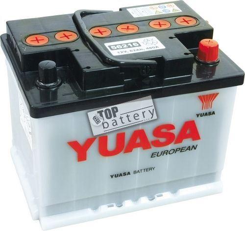 Autobaterie YUASA 56216, 62Ah, 12V, 480A (zprovozněná)