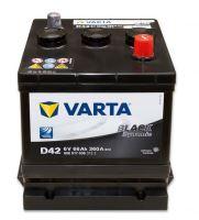 Autobaterie VARTA BLACK Dynamic 66Ah, 6V (D42)