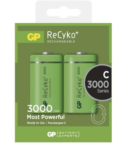 Baterie GP Recyko+ HR14, C, nabíjecí, 3000mAh, 1033312010, (Blistr 2ks)