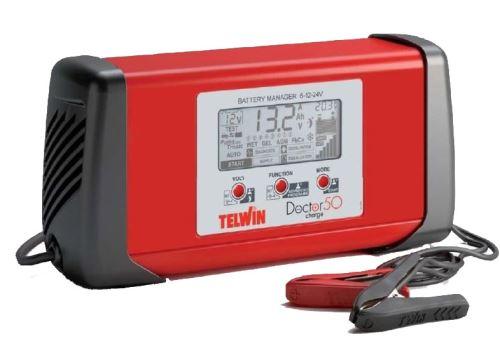 Nabíječka autobaterií Telwin Doctor Charge 50, 807598, 6V/12V/24V