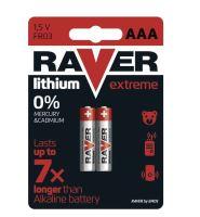 Baterie RAVER FR03, Lithium, AAA, (Blistr 2ks)