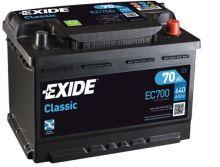 Autobaterie EXIDE Classic 12V, 70Ah, 640A, EC700