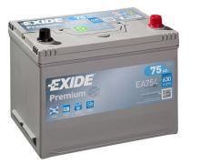 Autobaterie EXIDE Premium, Carbon Boost, 12V, 75Ah, 630A, EA754